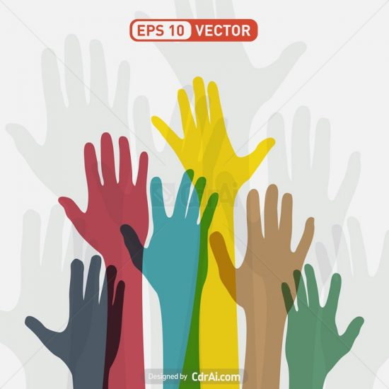 colorful-hands-vector-550x550